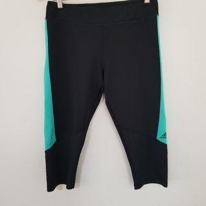 Adidas leggings large women black skinny crop